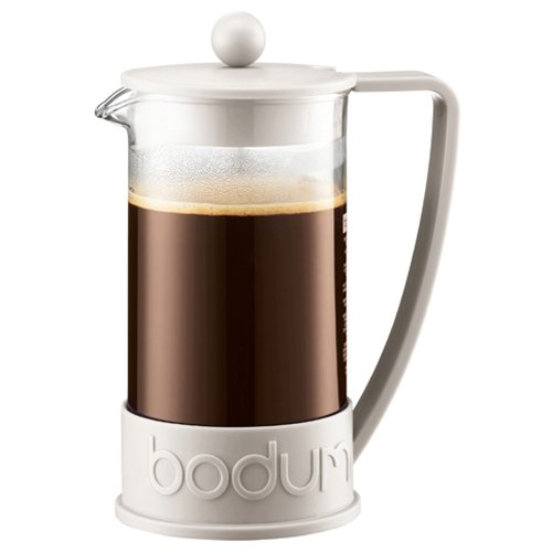 - Bodum New Brazil 8-Cup French Press Coffee Maker, 34-Ounce, Off White