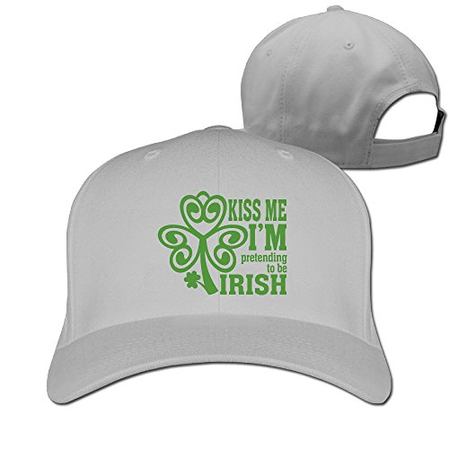 (DMN Unisex I'm Pretending to Be Irish Baseball Hip-hop Cap Vintage Adjustable Hats for Women and Men Ash,One Size)