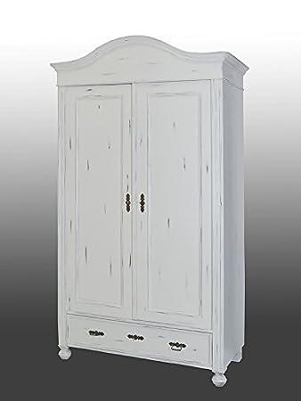 Kleiderschrank Dielenschrank Um 1900 Im Shabby Chic Stil Weiß