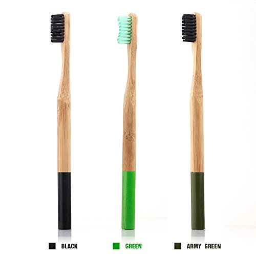 HailiCare Charcoal Bamboo Toothbrush Bristles