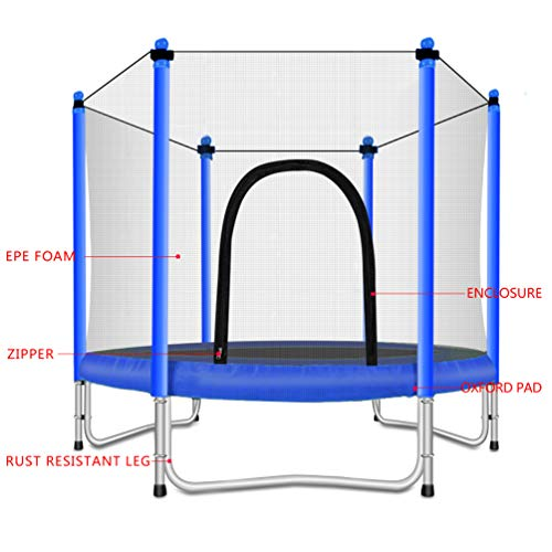 Fashionsport OUTFITTERS Trampoline with Safety Enclosure -Indoor or Outdoor Trampoline for Kids-Blue-5FT by Fashionsport OUTFITTERS (Image #5)