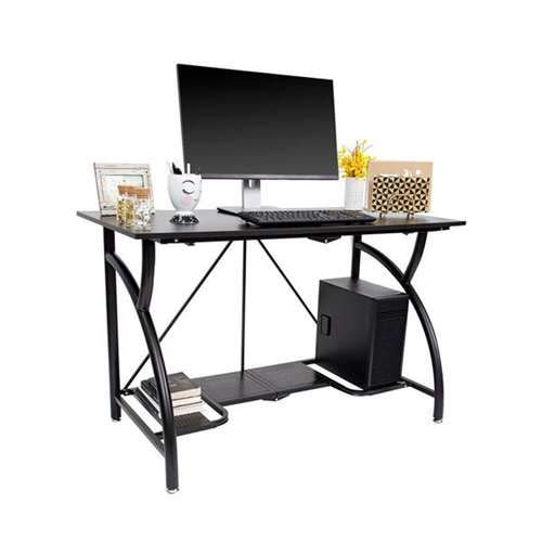 Origami Multi Purpose Folding Wooden Office Computer Furniture Table Desk, Black