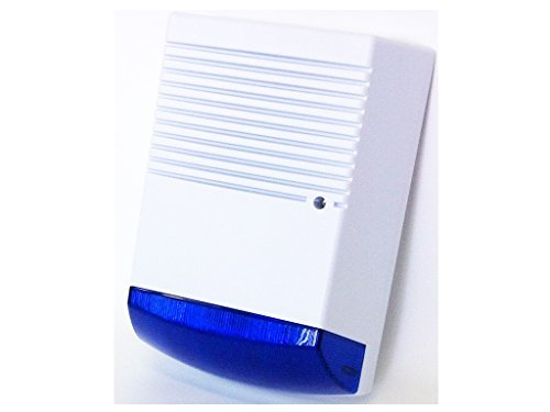 Dummy House Alarm Solar Bell Box - LED LIGHT - Blue Lens by DCC by DCC
