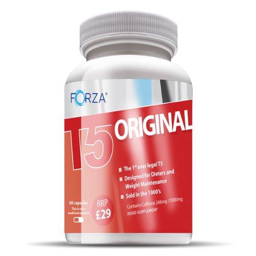 FORZA ® T5 d'origine thermogénique brûleurs de graisse pilules amincissantes & Diet Weight Loss Supplements coupe-faim (60x550mg Capsules)