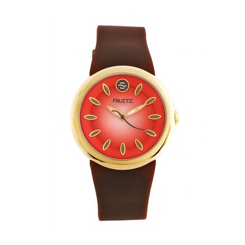 Philip Stein Women s Fruitz Quartz Stainless Steel and Silicone Casual Watch, Color Brown Model F36G-F-BR