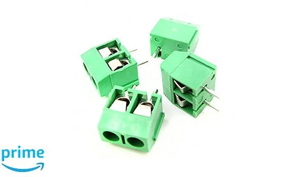 10 x 5-Way Plug-In PCB Screw Terminal Block 5.08mm