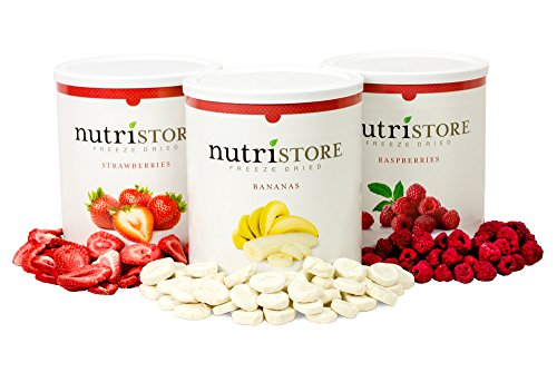 (Freeze Dried Variety Fruit Sample Pack by Nutristore | Delicious Snack | 120 serving | 1 Month Supply | Survival Food)