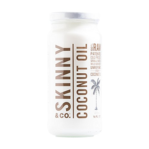 SKINNY and CO. 100% Raw Virgin Skinny Coconut Oil for Skin and Hair and Supplement (16 fl oz.)