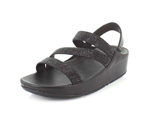 FitFlop Womens Crystall Z-Strap Sandal Black zL04L7