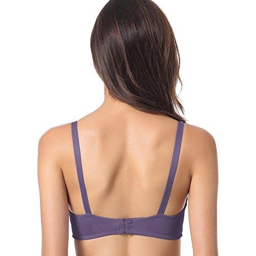 Gratlin - Sujetador de Embarazo y Lactancia Premamá Con Aros Para Mujer Gris púrpura