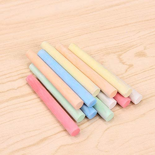Multi-Color Chalks,100 PCS Sidewalk Chalk for Kids Drawing,Non-Toxic Washable Multicolor Chalks for Driveway,Easy to Clean