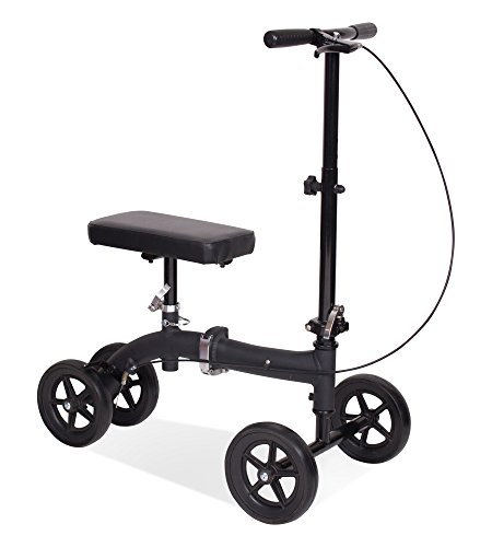 Carex Knee Walker/Scooter with Height Adjustment, Black, ...