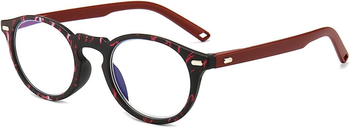 LGQ Nuevas Gafas de Lectura con luz Anti-Azul, visión HD/Anti-Fatiga/Alta transmisión de luz, Marcos de Moda Multicolor dioptrías +1,00 a +3,00,Rojo,+2.00
