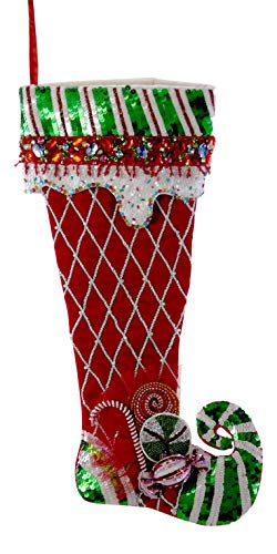 - Katherine's Collection Red and Green Sweet Candy Christmas Holiday Stocking