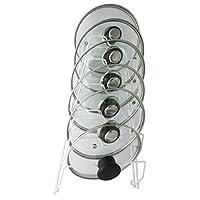 Evelots Pot Lid Storage-Gabinete Puerta /Pared-Organizador-6 Macetas /Cubiertas de cacerolas-Sin rayones