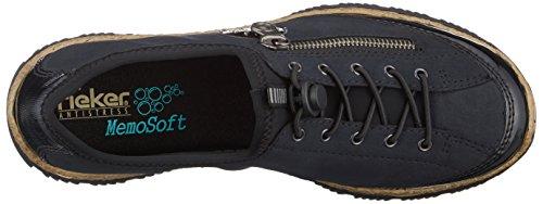 Blu schwarz schwarz Sneaker pazifik 01 Rieker Donna baltik N3268 Infilare qFPIpS