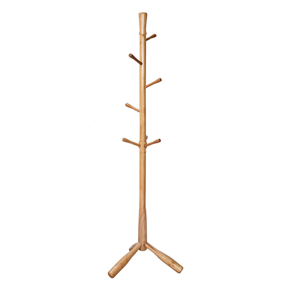Oak-coat-rack-wood-color Clothes Hat Tree Coat Rack,Solid Wood, Oak Hanger, Log Wood color,175cm44cm29cm FENPING (color   Oak-Coat-Rack-Wood-color)