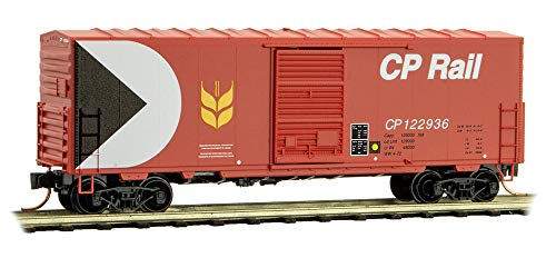 (Micro-Trains MTL N-Scale 40ft SD Box Car Canadian Pacific/CP Rail (Red) #122936)