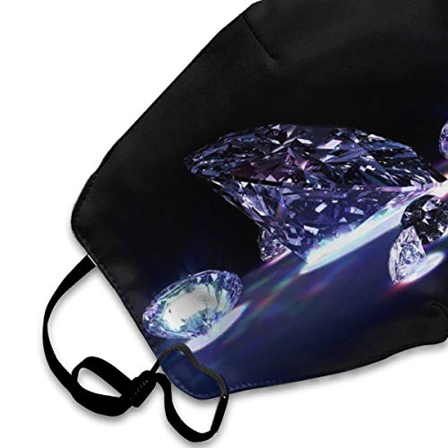 Mouth Cover Mask Bling Bling Diamond Fashion Anti Dust Half Face Masks