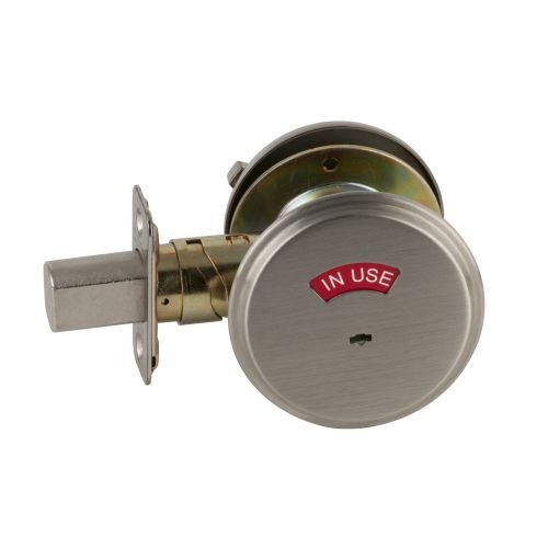durable service Schlage B571 One Sided Deadbolt with In Use Indicator, Satin Nickel by Schlage Lock Company