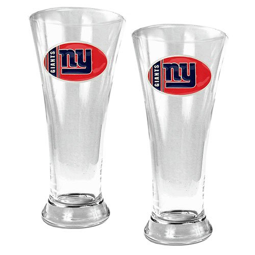 NFL New York Giants Two Piece 19-Ounce Pilsner Glass Set