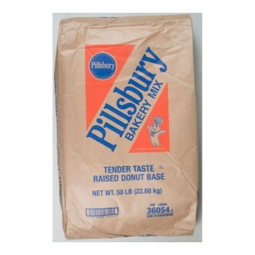 Pillsbury Yeast Raised Tender Taste Donut Mix, 50 Pound -- 1 each.
