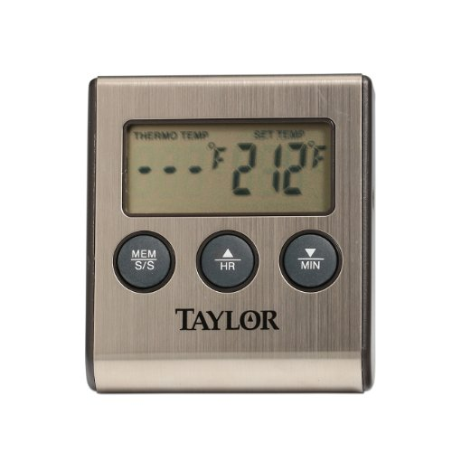 Taylor 5 Star Pro Programmable Thermometer with Probe and Ti