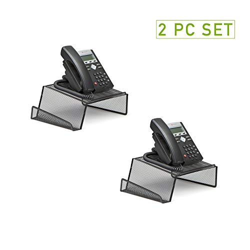 Mind Reader Metal Desktop Phone Stand, 2 Pack, Black