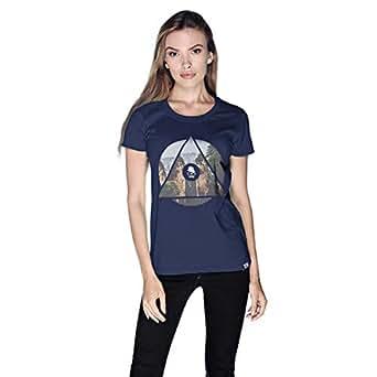 Creo China Mountain T-Shirt For Women - M, Navy Blue