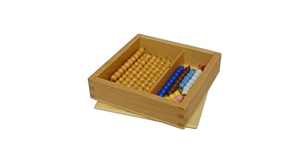 Amazon.com: Montessori Bead Bares para Teen Junta con caja ...