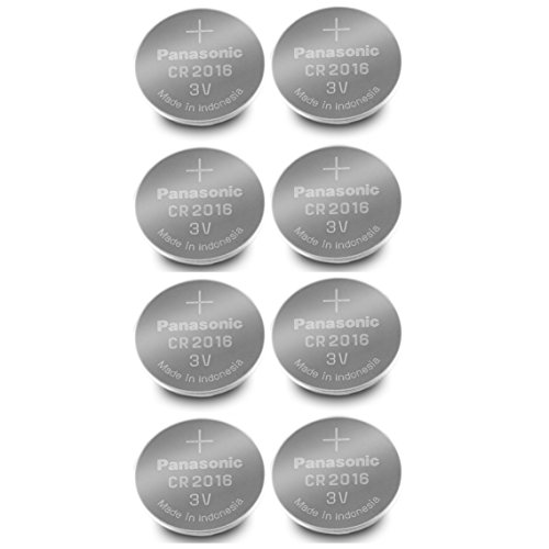 Panasonic CR2016-8 CR2016 3V Lithium Coin Battery (Pack o...