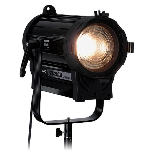 Fotodiox Pro DY-200w Tungsten Fresnel LED, High-Intensity LED Fresnel Light for Film & Television - with Remote Dimmable and Focusable Control, 12V AC Power Adapter, Light Stand bracket and Removable Barndoors, CRI > 85 by Fotodiox (Image #7)