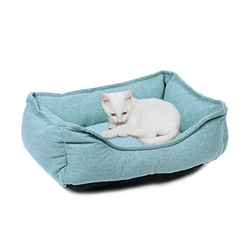 PAWZ Road Rectangular Bolster Dog Bed for Small Medium and Large Cats and Dogs, Super Thick and Warm and Anti-Skid, Multiple Sizes and Colors
