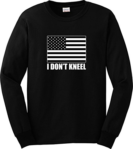 Trump Can't Divide This Dallas Cowboys NFL Take A Kneel Logo Long Sleeve T-shirt, XL Black