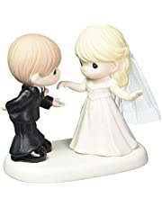 Precious Moments Wedding Gifts May I have This Dance for The Rest of My Life Bisque Porcelain Figurine 163008