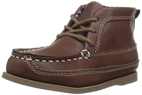 Moccasins Side Lace Boots (Carter's Boys' Jinju2 Chukka Boot Moccasin, Brown, 9 M US Toddler)