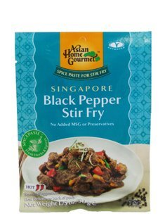 Asian Home Gourmet Spice Paste for Stir Fry: SINGAPORE Black Pepper Stir Fry (5 X 1.75 Oz) Pepper Steak Stir Fry