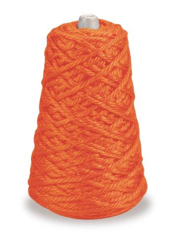 Trait-tex 4-Ply Jumbo Roving Yarn Refill Cone, Orange, 87 (Pacon Acrylic Roving Yarn)