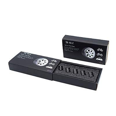 TK-KLZ 5Pcs Chrome Car Tire Valve Stem Caps for Tesla Roadster Model S Model X Model 3 TESLASUV Decorative Accessories: Automotive