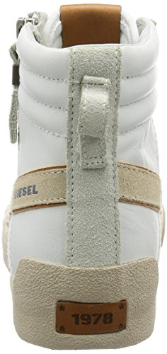 Diesel Mens D-velows D-string Plus Mono Sneaker Bianco / Ghiaccio