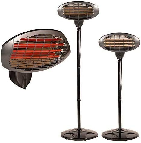 Druline 2000 Watt Infrared Heater Stand Heater Patio Heater Terraces Spotlight Amazon Co Uk Garden Outdoors