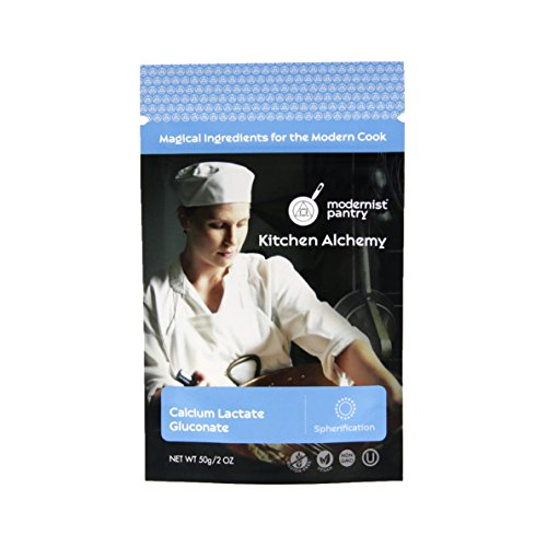 Pure Calcium Lactate Gluconate (Molecular Gastronomy) ⊘ Non-GMO ☮ Vegan ✡ OU Kosher Certified - 50g/2oz