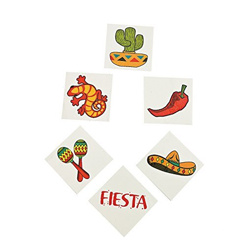 (Mexican Fiesta Temporary Tattoos - 72)