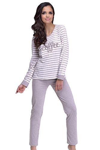 Damen Schlafanzug 1023 Blanka Beige
