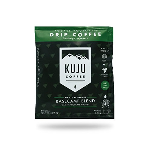 Kuju Coffee Pocket PourOver - Single Serve, Portable Pour Over Coffee - No Equipment Needed - Made with Ethically-Sourced Specialty Coffee - 10-pack   Basecamp Blend, Medium Roast by KUJU COFFEE (Image #7)