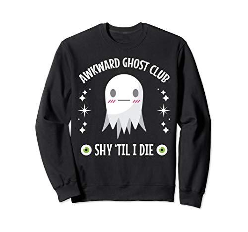 Halloween Awkward Ghost Club Shy Design