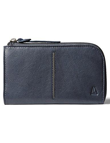 ab2b03a276bc Leather Architect Men's 100% Leather RFID Blocking Half Zip - Import It All