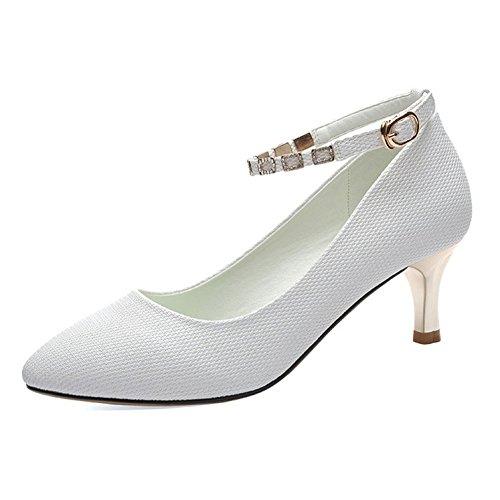Sandales Strass Femme Boucle Strass Talons Hauts Peu Profonds Bien avec des Chaussures Mode Sauvage Robe Chaussures De F