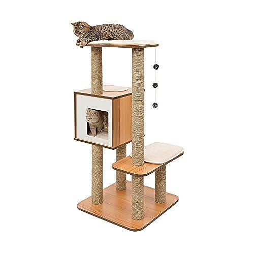 Vesper Cat Furniture, Walnut, V High Base