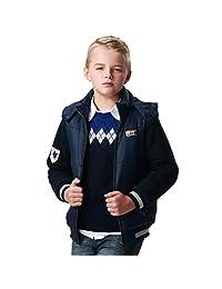 Leo&Lily Boys Winter Padded Puffer Jacket Outwear Coat W Fleece Sleeves